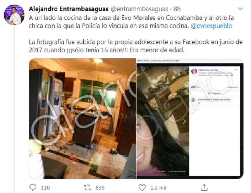 El detalle de la presencia de Meneses en la cocina de Morales podría servir de prueba en la denuncia activada por el Gobierno / TWITTER