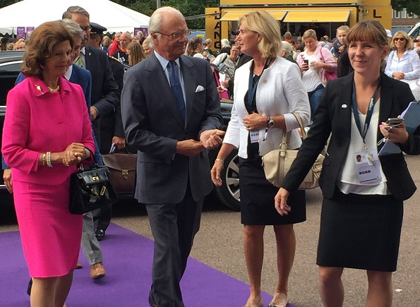 Queen Silvia, Princess Madeleine, Crown Princess Victoria, Princess Estelle and Princess Sofia at Longines FEI European Championships Gothenburg 2017