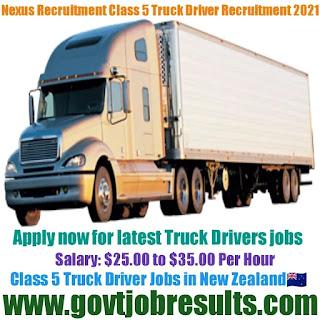 Nexus Recruitment Class 5 Truck Driver Recruitment 2021-22