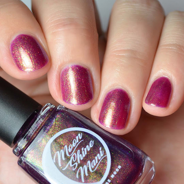 plum nail polish with shimmer