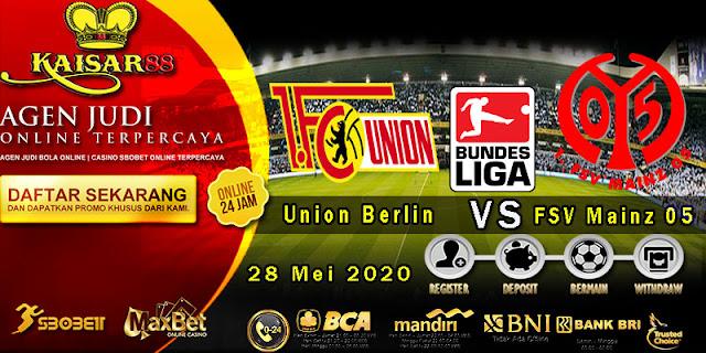 Prediksi Bola Terpercaya Liga Bundesliga Union Berlin vs FSV Mainz 05 28 Mei 2020