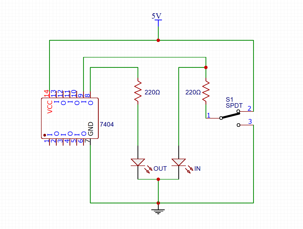 each of these ics has 6 inverters inside of them we will use this ic to demonstrate not gate let s take a look at the circuit diagram first  [ 1203 x 912 Pixel ]