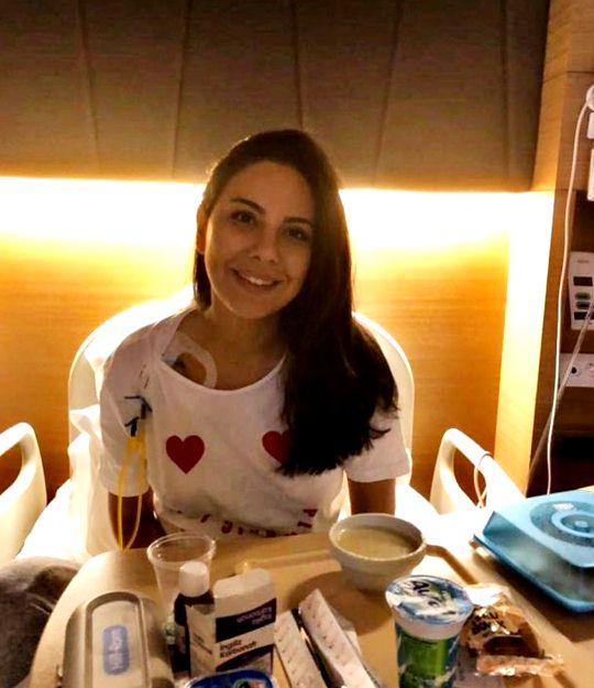 Cancer treatment presenter Dilay Kemer was taken to intensive care
