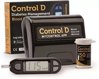 Control D Automatic Glucose Blood Sugar Testing Machine with 50 Strips