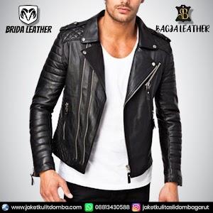 Jual Jaket Kulit Asli Garut Pria Domba Original Brida Leather B72 Ramones | WA 08813430588