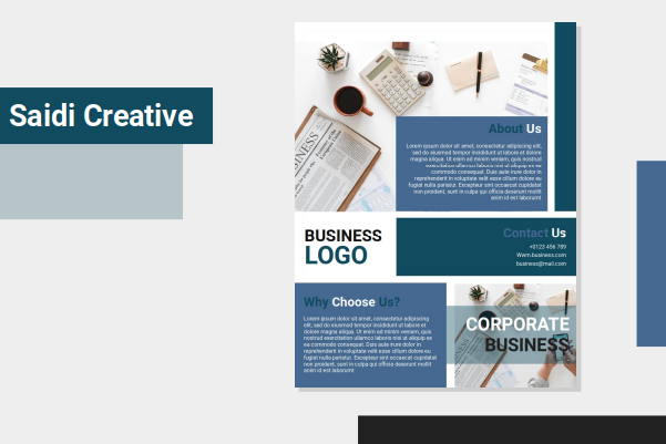Corporate Business Flyer Template Free Download on Word File