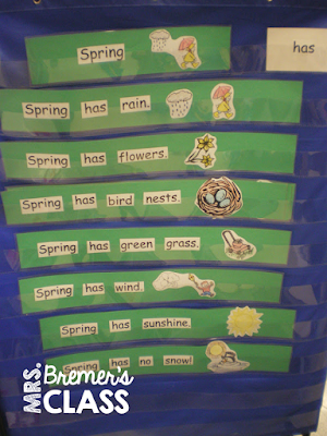 Kindergarten literacy centers and language activities