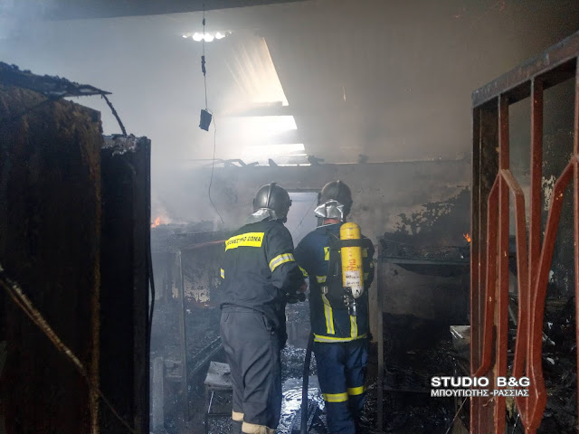 Πυρκαγιά σε αποθήκη στο Σχινοχώρι Αργολίδας