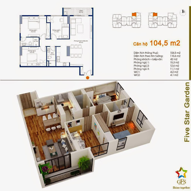 Căn 104,5 m2