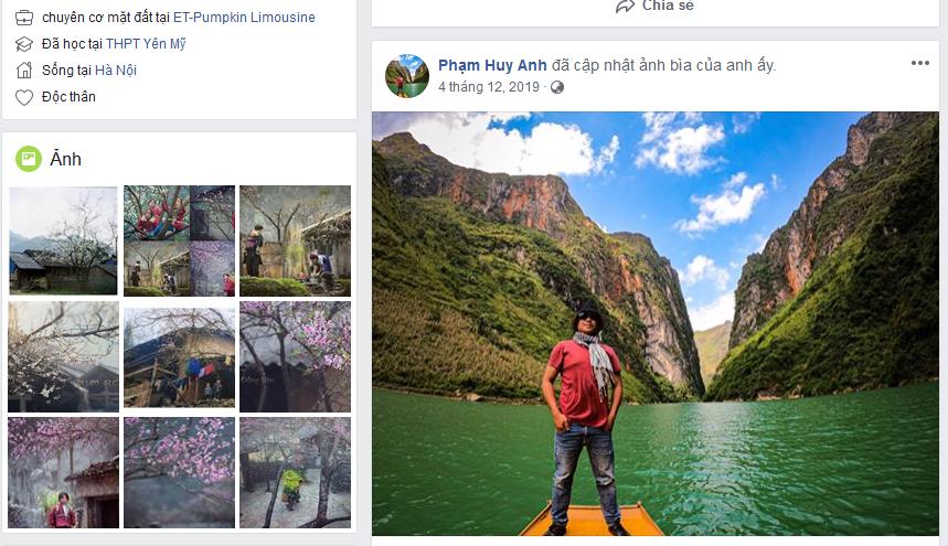 Link Facebook của Hứa Luật Phong