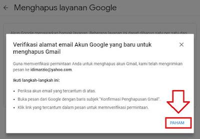 hapus email gmail lewat hp