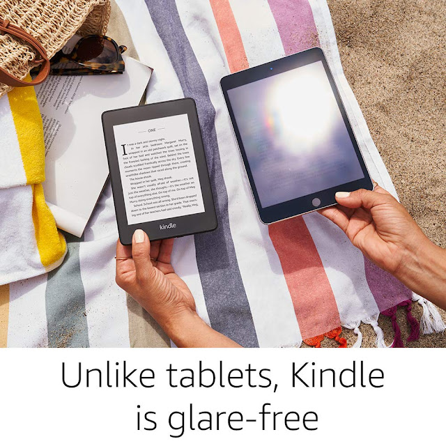 Kindle Paperwhite (10th gen) -with Built-in Light, Waterproof, 32 GB, WiFi + Free 4G LTE.