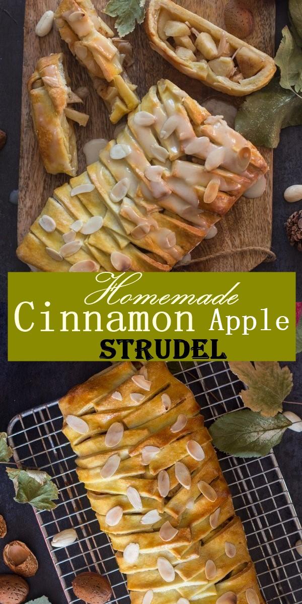 Homemade Cinnamon Apple Strudel #Dessertrecipes