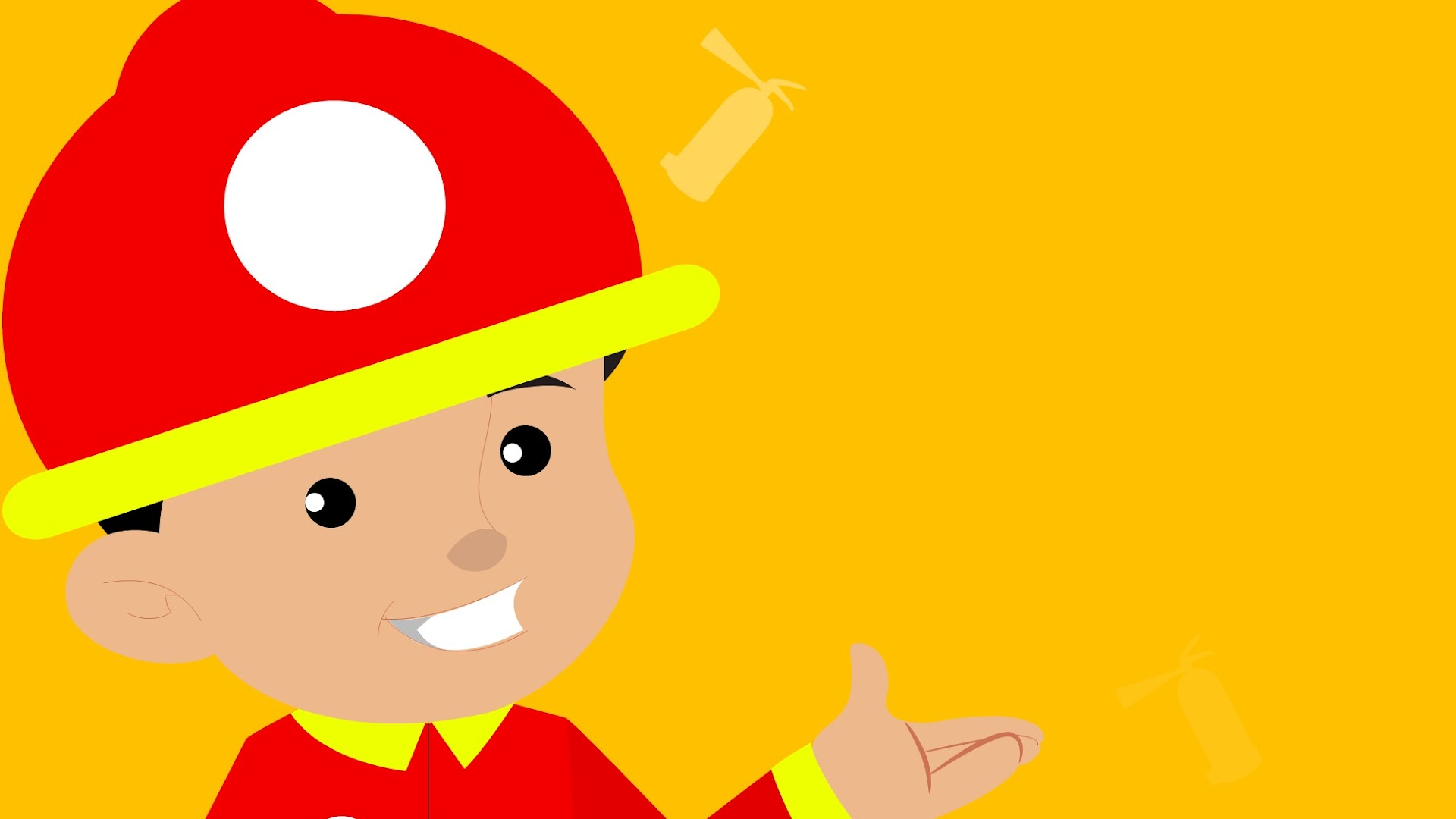 Kids Cartoon Fire Fighting Background