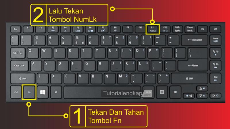 tutorialengkap 1 Cara Memperbaiki Keyboard error Huruf menjadi Angka pada Laptop
