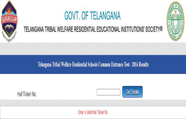 TSTWREIS,Gurukulam,5th class entrance test results