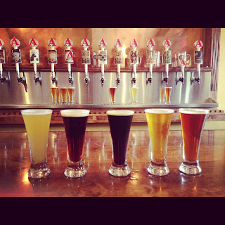 Avery Brewing flight & taps