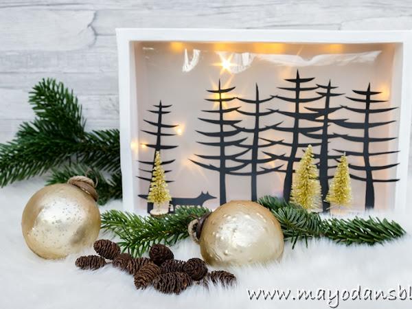 DIY Weihnachtliche Lichtbox und Lichtgläser mit Sternenfolie