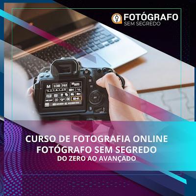 Curso de Fotografia - Fotógrafo Sem Segredo do básico ao avançado na fotografia
