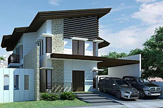 the idea of ​​a modern 2-storey minimalist house - Lampung interior house
