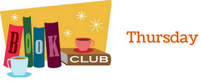 book club thursday- clearing off the book shelves