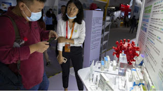 China shows off COVID-19 vaccines for the first time