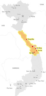Map of Central Vietnam