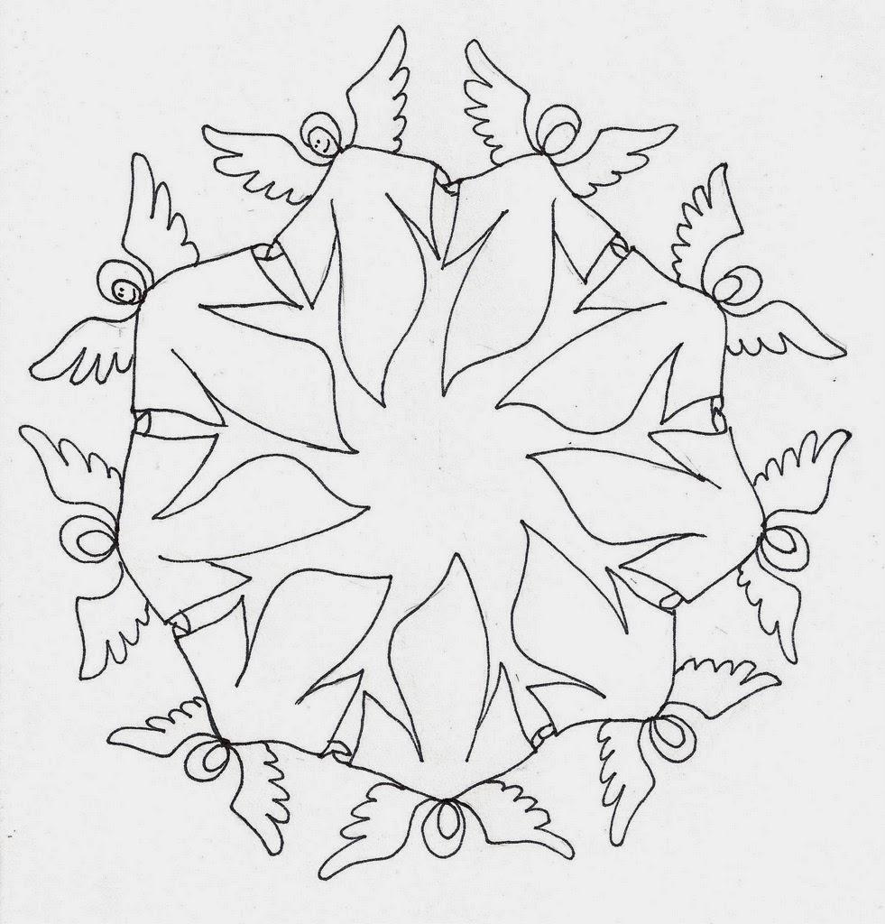 BAÚL DE NAVIDAD: Colorear Mandalas De Navidad: ÁNGELES