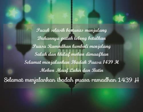 kata ucapan selamat menyambut ramadhan 2018, permohonan maaf