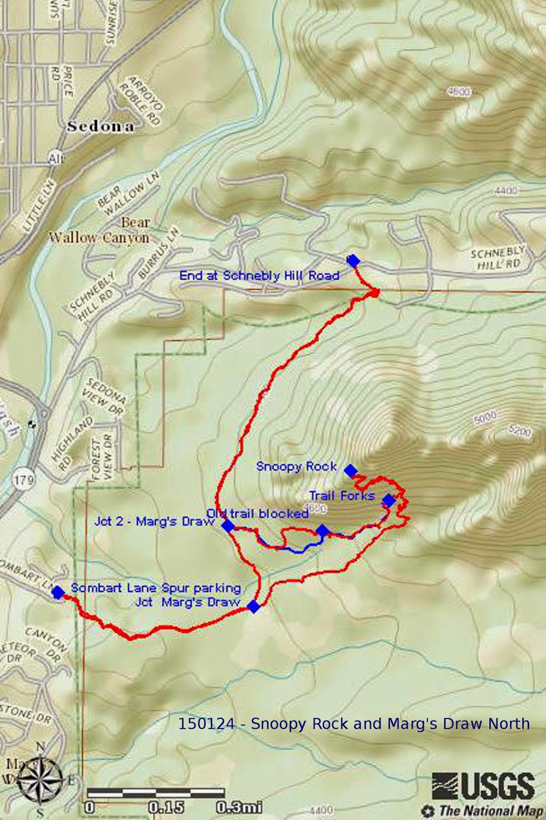 this hike was 4 9 miles total the highest elevation was 4952 feet and the total ascent was 1065 feet