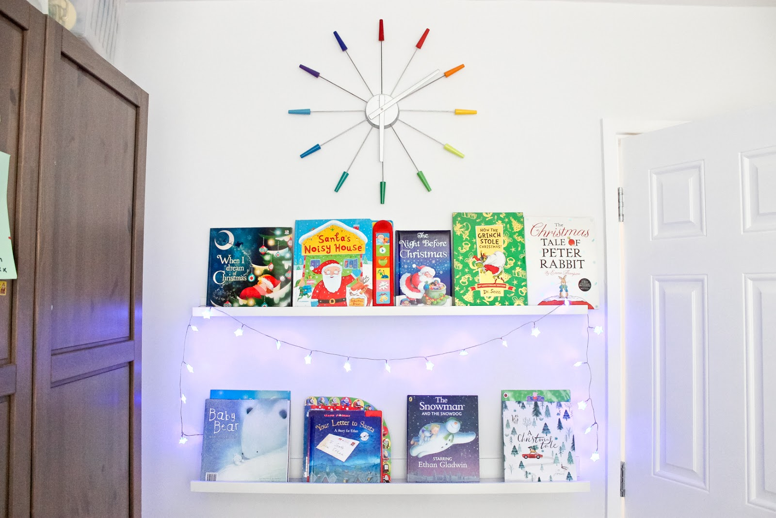 kids christmas books, kids christmas decor, christmas books, christmas home decor tour