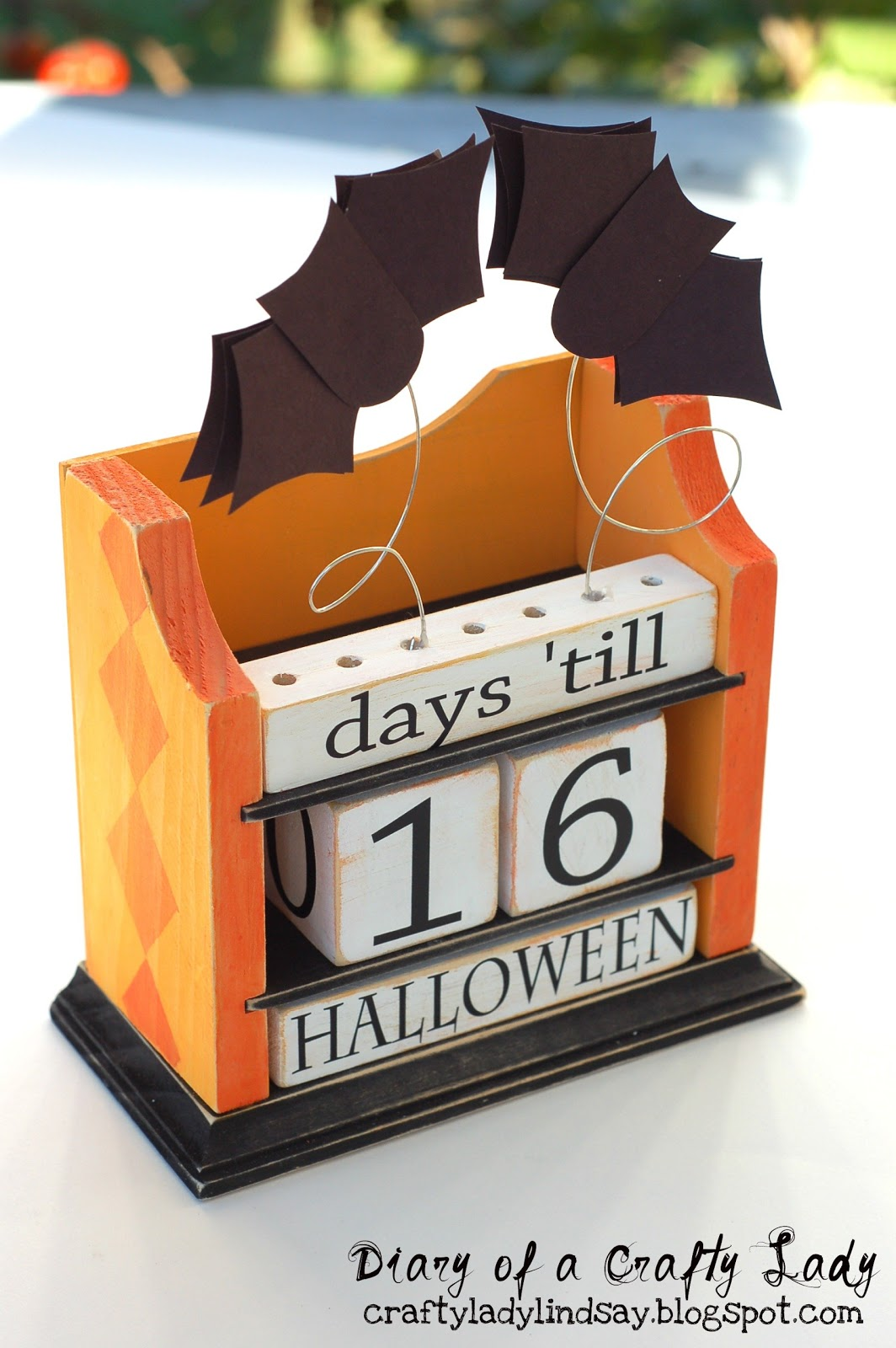 Diary of a Crafty Lady: Halloween Countdown Block Calendar