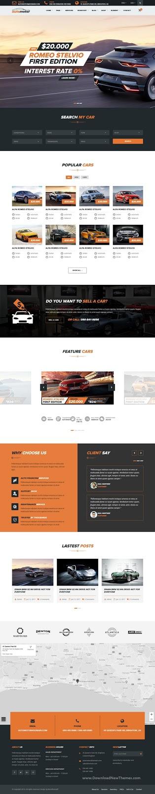AutoMotor - Car Dealer & Services HTML5 Template