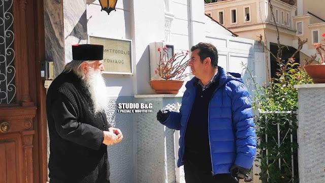 Τρόφιμα στην Μητρόπολη Αργολίδας παρέδωσε ο Αντιπεριφερειάρχης Ιωάννης Μαλτέζος (βίντεο)