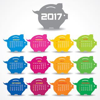 2017カレンダー無料テンプレート140