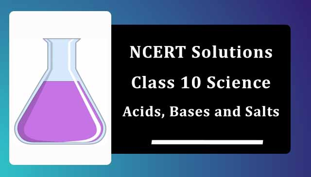 NCERT Solutions for Class 10 Science Chapter 2 Acids, Bases and Salts