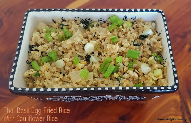 images of Thai Basil Egg Fried Rice With Cauliflower Rice / Thai egg Basil Fried Rice with Cauliflower Rice - Cauliflower Rice Recipes