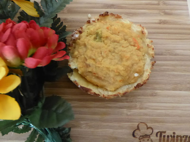 tortino patate e lenticchie rosse