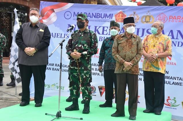 Korem 091/ASN dan Majelis Pandita Buddha Maitreya Indonesia Berangkatkan Bantuan ke Kalimantan Selatan