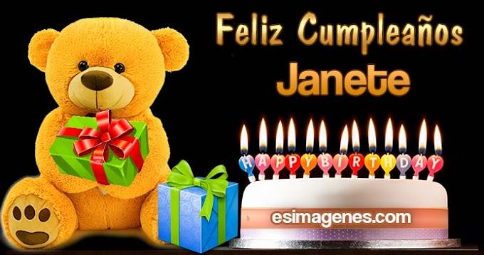 Feliz cumpleaños Janete