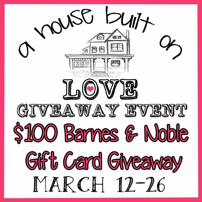 Enter the House Built on Love Giveaway. Ends 3/26.
