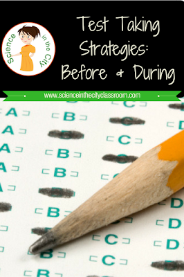 Strategies to use with your students before and during testing to help them be more successful