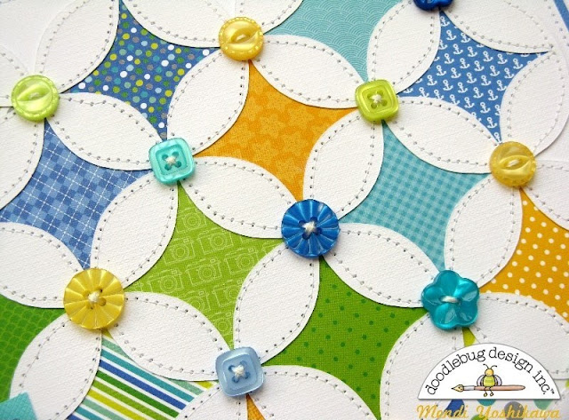 Doodlebug Design: Inspired by Pinterest Cathedral Style Quilt Scrapbook Layout by Mendi Yoshikawa