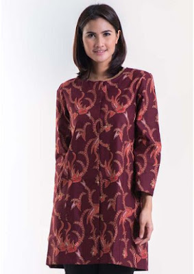 Model Baju Batik Solo Lengan Panjang