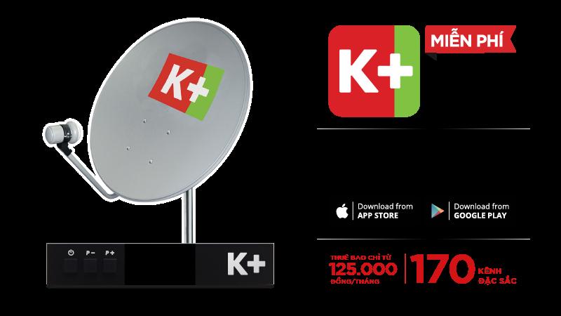 Gói kênh K+ dành cho khách hàng sử dụng Chảo + Đầu thu K+