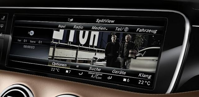 Mercedes S500 Cabriolet 2018 sử dụng Hệ thống giải trí tiên tiến và hàng đầu của Mercedes hiện nay