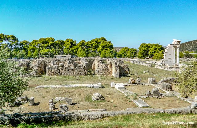 Templo de Asclépio, no Sítio Arqueológico de Epidauros