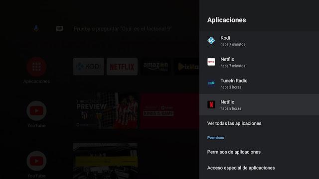 Borrar datos de Netflix tvbox