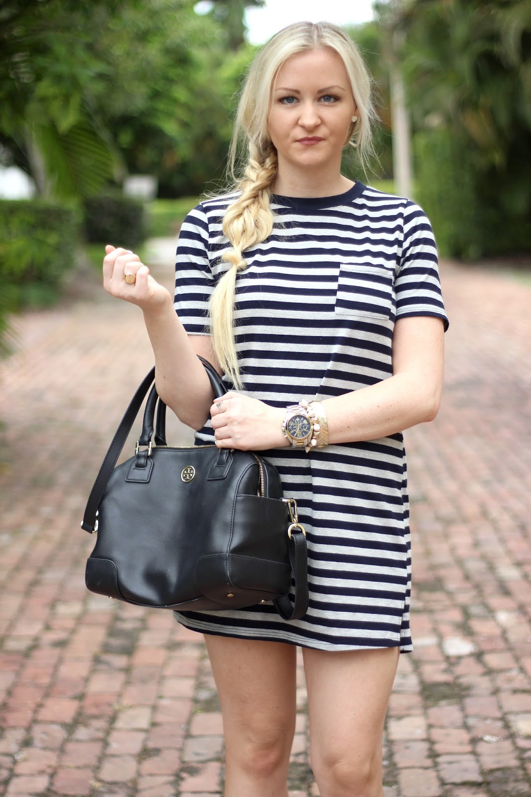 f3f8d732f7e95d Striped T-Shirt Dress - Devon Alana