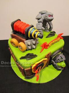 bolo aniversário Clash Royale doces opções